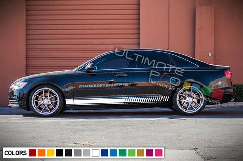グラフィック デカール ステッカー 車体用 / アウディ A6 1999 2018 RS / ラインステッカー ストライプキット