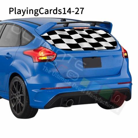 グラフィック デカール ステッカー 車体用 / フォード フォーカス 2018 2019 / リアウィンドウ トランプステッカー