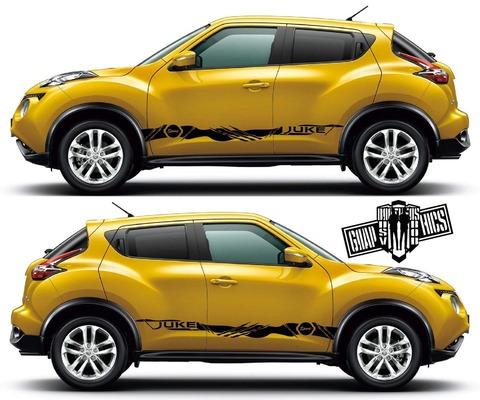 グラフィック デカール ステッカー 車体用 / 日産 ジューク / サイドドア ストライプ・ステッカー