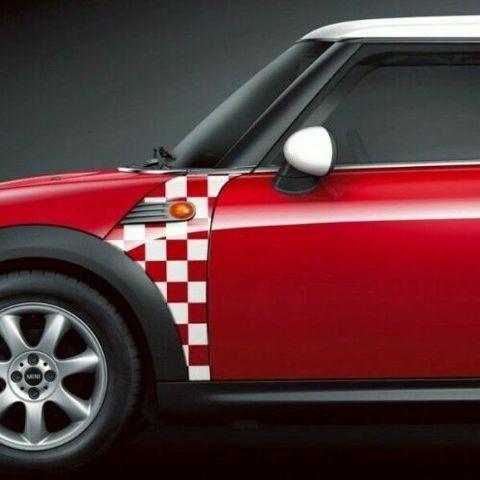グラフィック デカール ステッカー 車体用 / ミニ クーパー R55 R56 R57 / BMW Aパネル チェッカー フラッグ