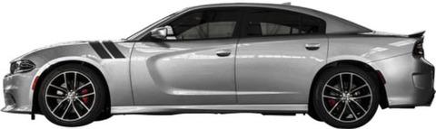 グラフィック デカール ステッカー 車体用 / ダッジ チャージャー 2001-2019 / フロントフェンダー ストライプステッカー