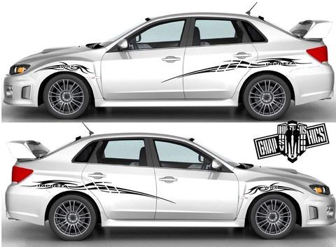 グラフィック デカール ステッカー 車体用 / スバル インプレッサ / ストライプ・ステッカー / 1