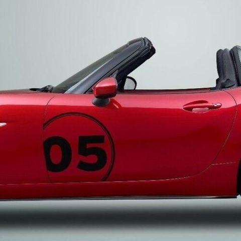 グラフィック デカール ステッカー 車体用 / マツダ MX-5 ミアータ ロードスター / ドアパネル レース