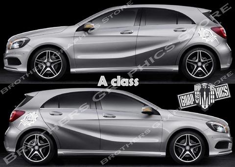 グラフィック デカール ステッカー 車体用 / メルセデスベンツ Aクラス / ストライプ・ステッカー