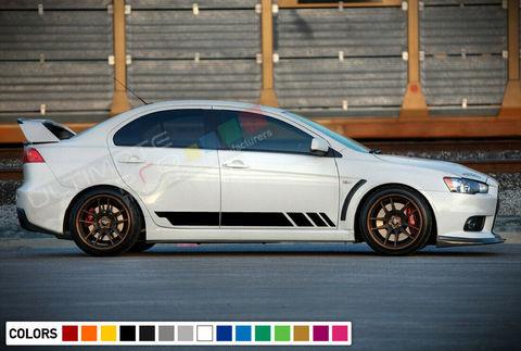 グラフィック デカール ステッカー 車体用 / 三菱 ランサーエボリューション X / サイドドア ストライプステッカー