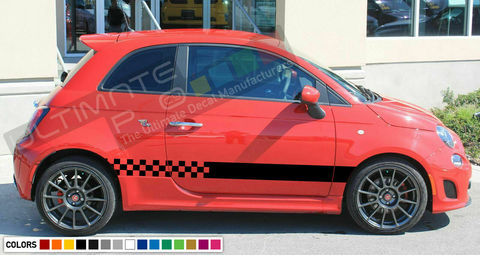グラフィック デカール ステッカー 車体用 / フィアット 500 アバルト / ストライプステッカー
