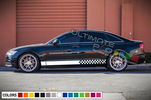 グラフィック デカール ステッカー 車体用 / アウディ A6 2016 2017 2019 2020 / サイドドア ストライプステッカー