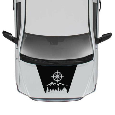 グラフィック デカール ステッカー 車体用 / トヨタ タンドラ 2016 2017 2018 / モダン フードステッカー