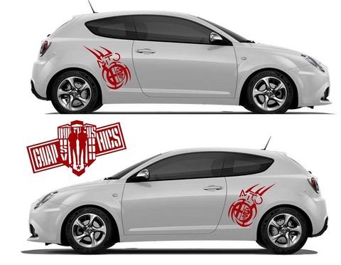 グラフィック デカール ステッカー 車体用 / アルファロメオ ミト / カスタム サイドドア ストライプ・ステッカー