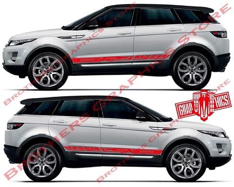 グラフィック デカール ステッカー 車体用 / レンジローバー イヴォーク / ストライプ・ステッカー