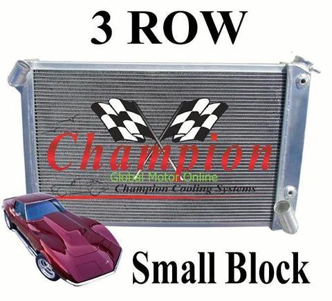 69-72 コルベット C3 Champion 3層 Small Block アルミ ラジエター   CC1655