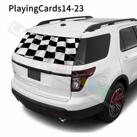 グラフィック デカール ステッカー 車体用 / フォード エクスプローラー / リアウィンドウ トランプデカール