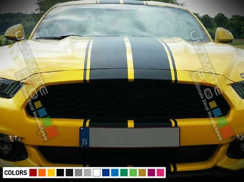 グラフィック デカール ステッカー 車体用 / フォード マスタング GT 2014 2015 2016 2017 2018 2019 2020 / ストライプステッカー ボディキット