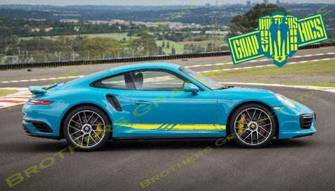 グラフィック デカール ステッカー 車体用 / ポルシェ パナメーラ 911 カレラ カイエン タイカン / ストライプ・ステッカー