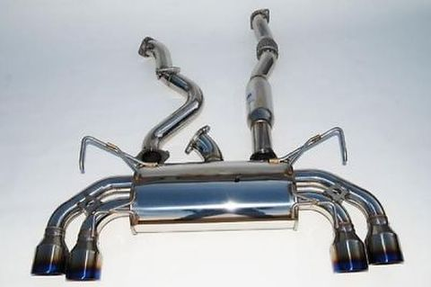 Subaru スバル WRX STI 5ドア 2008-2014 Invidia Rolled Titanium Tip CAT-BACK EXHAUST Q300 マフラー チタンエンド