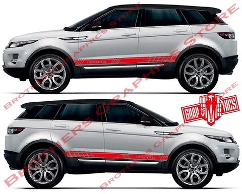 グラフィック デカール ステッカー 車体用 / レンジローバー イヴォーク / カスタム ストライプ・ステッカー