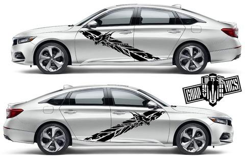 グラフィック デカール ステッカー 車体用 / ホンダ アコード / ストライプ・ステッカー / 1