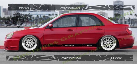 グラフィック デカール ステッカー 車体用 / スバル インプレッサ / ストライプ グラフィックス・ステッカー