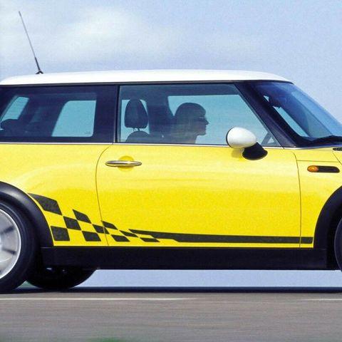 グラフィック デカール ステッカー 車体用 / ミニ クーパー R50 R53 / チェッカー フラグサイド ストライプグラフィックデカール