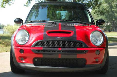 ミニクーパーS 01-06年式 バイパー 黒ストライプステッカー Mini Cooper S 01-06 Viper Black Sticker 在庫品