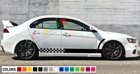 グラフィック デカール ステッカー 車体用 / 三菱 ランサーエボリューション X 2011 / ストライプキット