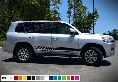 グラフィック デカール ステッカー 車体用 / トヨタ ランドクルーザー / 4x4 サイドドア ストライプステッカーセット