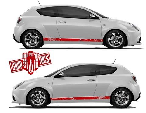 グラフィック デカール ステッカー 車体用 / アルファロメオ ミト / ストライプ グラフィックキット・ステッカー