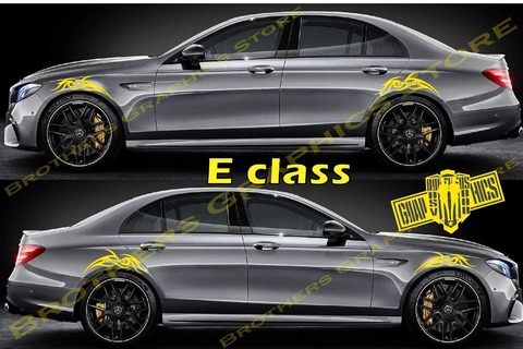 グラフィック デカール ステッカー 車体用 / メルセデスベンツ Eクラス / サイドドア ストライプ・ステッカー