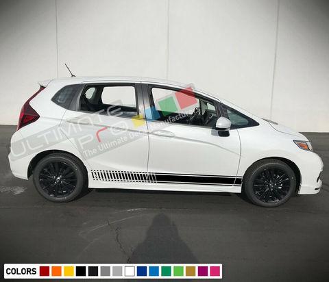 グラフィック デカール ステッカー 車体用 / ホンダ フィット 2015 2016 2017 2018 / サイドドア ストライプステッカー