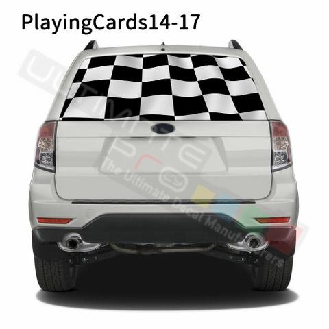 グラフィック デカール ステッカー 車体用 / スバル フォレスター / リアウィンドウ トランプデザイン
