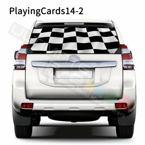 グラフィック デカール ステッカー 車体用 / トヨタ ランドクルーザー 2017 / リアウィンドウ トランプステッカー