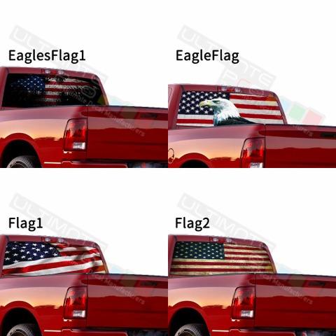 グラフィック デカール ステッカー 車体用 / ダッジ ラム / リアウィンドウ フラッグデカール