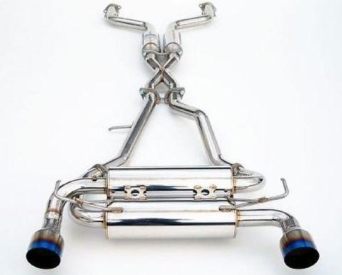 日産 フェアレディZ Z33 2002-2008 Invidia Single Layer Titanium Tip Cat-Back Exhaust GEMINI 単層チタンエンドマフラー