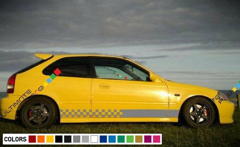 グラフィック デカール ステッカー 車体用 / ホンダ シビック 1997 1998 1999 2000 EK9 タイプ R / ストライプステッカー
