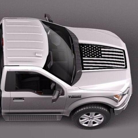 グラフィック デカール ステッカー 車体用 / フォード F-150 2015-2018 / USA フラッグフード ストライプ