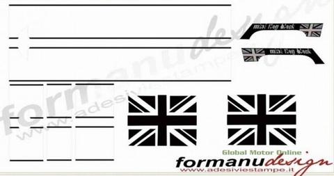カスタム グラフィック ステッカー Mini ONE/クーパー R50 ストライプスオールセット  EMA MINI ONE COOPER STRISCE COFANO+ BAULE +TETTO ALL INCLUSIVE