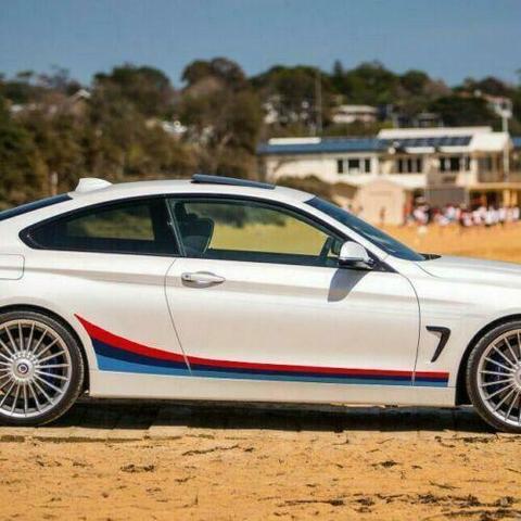 グラフィック デカール ステッカー 車体用 / BMW 4シリーズ F32 / クーペM パフォーマンス サイドストライプグラフィックス