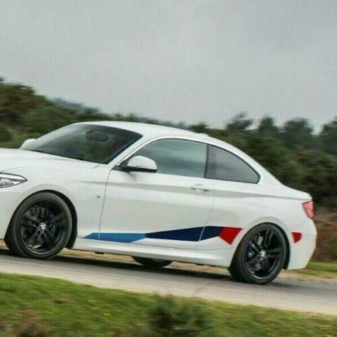 グラフィック デカール ステッカー 車体用 / BMW 2シリーズ F22 2013-2019 / クーペM パフォーマンス サイドストライプグラフィック ステッカーデカール