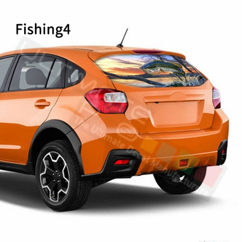 グラフィック デカール ステッカー 車体用 / スバル XV 2017 / リアウィンドウ フィッシングデザイン