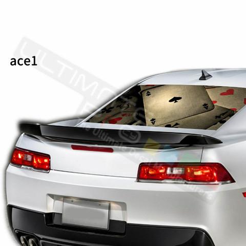 グラフィック デカール ステッカー 車体用 / シボレー カマロ / リアウィンドウ トランプステッカー