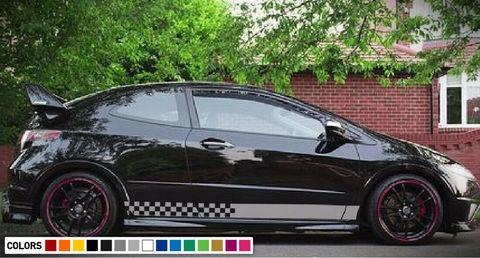 グラフィック デカール ステッカー 車体用 / ホンダ シビック 2006 2011 タイプ R / ストライプステッカー