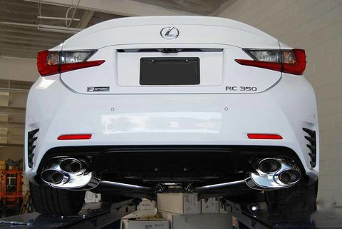 Lexus RC200t RC300 Turbo Invidia SS Tip CAT-BACK EXHAUST(Quad Oval) Q300 ポリッシュエンドマフラー