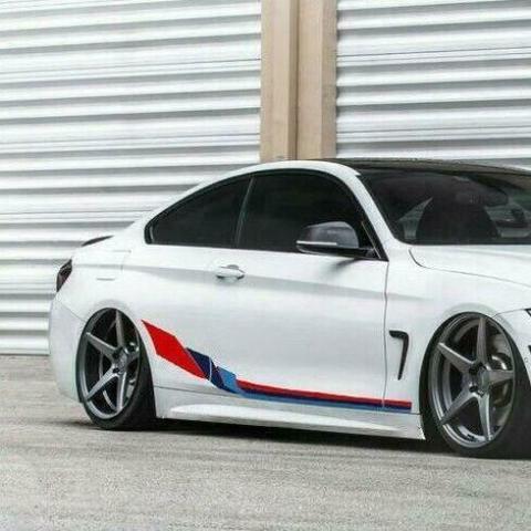 グラフィック デカール ステッカー 車体用 / BMW 4シリーズ クーペF32 2013-2019 / Mパフォーマンス サイドストライプグラフィック ステッカーデカール