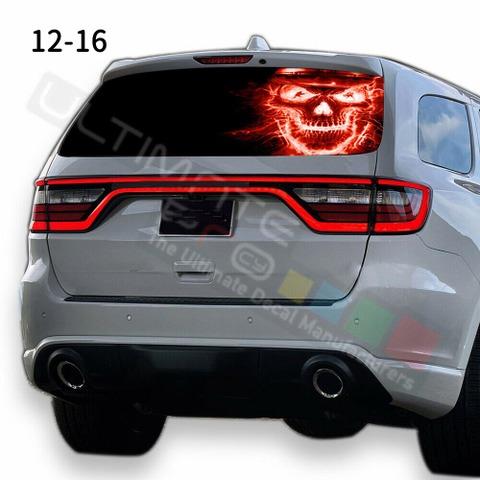グラフィック デカール ステッカー 車体用 / ダッジ デュランゴ 2020 / リアウィンドウ スカルデザイン