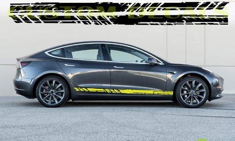 グラフィック デカール ステッカー 車体用 / テスラ モデル3 モデルX モデルY モデルS / ユニーク・ステッカー