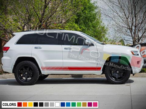 グラフィック デカール ステッカー 車体用 / ジープ グランドチェロキー トレイホーク V6 / ストライプグラフィック