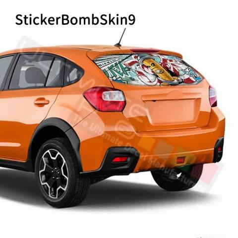 グラフィック デカール ステッカー 車体用 / スバル XV 2017 / リアウィンドウ ボムスキンステッカー