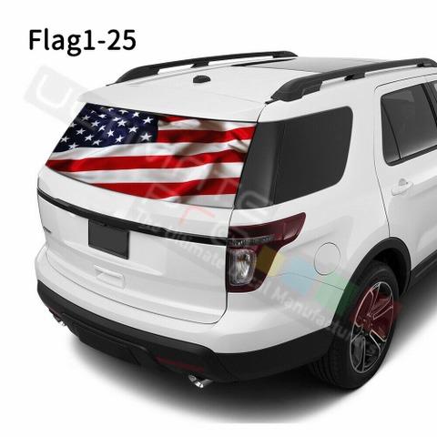 グラフィック デカール ステッカー 車体用 / フォード エクスプローラー / リアウィンドウ フラッグステッカー