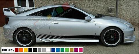 グラフィック デカール ステッカー 車体用 / トヨタ セリカ ZZT231 GT-S 2000 2004 2005 2006 / ストライプステッカー