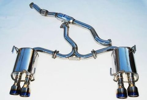 Subaru スバル WRX STI 4ドア 2011-2014 Invidia Rolled Titanium Tip CAT-BACK EXHAUST Q300 チタンエンドマフラー
